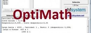 OptiMath Optimazador de corte de perfiles (gratis)